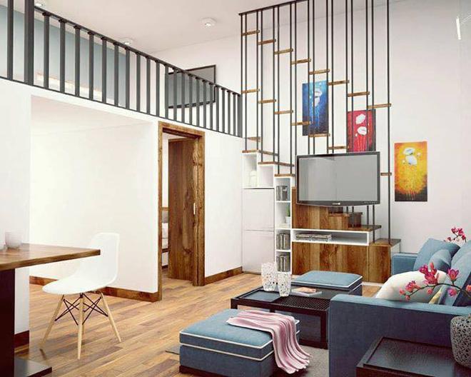 nội thất đơn nhỏ gọn, đơn giản và tiết kiệm diện tích
