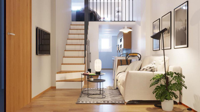 màu sáng, nhã nhặn sẽ giúp căn hộ nhỏ thoáng rộng hơn.
