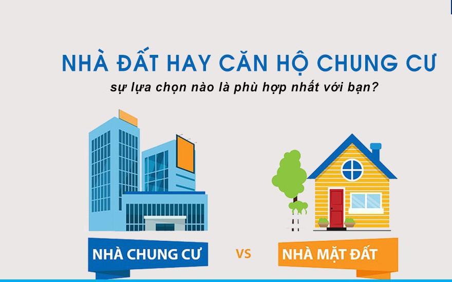 nhà đất hay nhà chung cư
