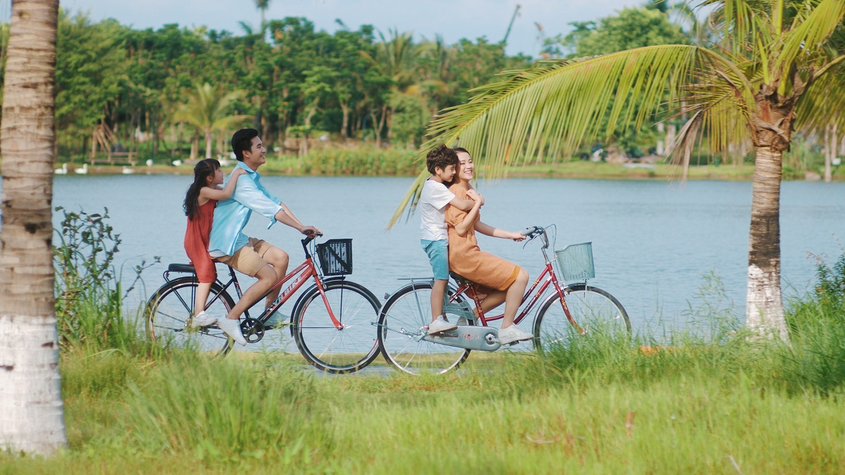 đạp xe tại ecopark