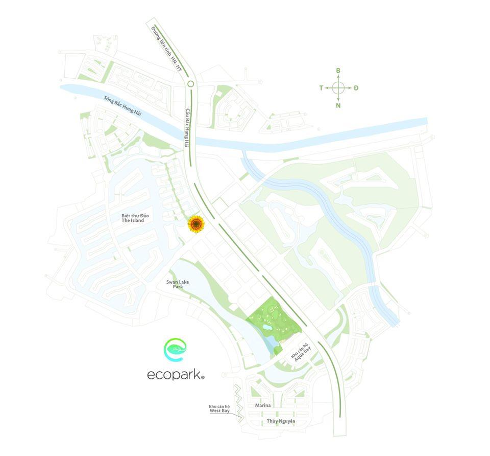 địa chỉ vườn hoa Hướng Dương Ecopark