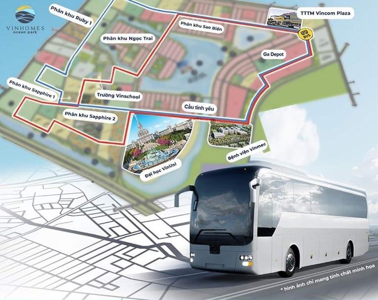 Lịch trình xe điện vinbus