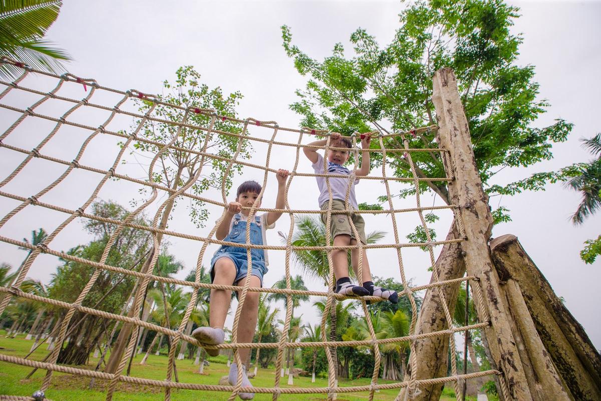 Khu vui chơi gỗ hồ Thiên Nga Ecopark